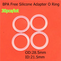 30pcs Food Grade BPA Free Clear Transparent Silicone Baby Pacifiers Holder Napkin Adapter Dummy Chain Holder MAM O rings