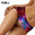 Forudesigns novidade novo ultra-fino mulheres seamless traceless calcinhas galaxy espaço de impressão underwear calcinhas sexy lingerie briefs