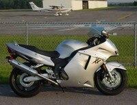 Hot Sales,For Honda CBR1100XX Blackbird 1996 2007 CBR 1100XX Silver Motorcycle Fairings SportsBike Body kits (Injection molding)