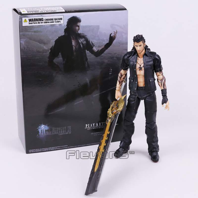 PLAY ARTS KAI Final Fantasy XV Gladiolus Amicitia PVC Action Figure Collectible Model Toy original play arts kai final fantasy xv 15 lunafreya nox fleuret pvc action figure collectible model toy 25cm