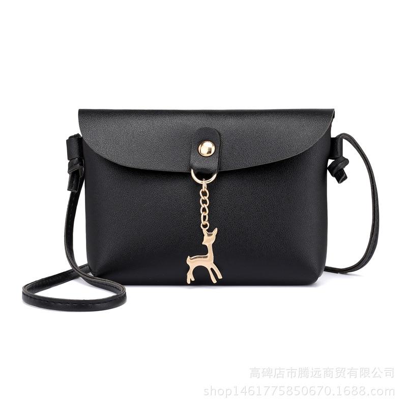 PU Leather Small Handbags Women Casual Shoulder Bag women leather handbags women messenger bag designe Simple Messenger Bag girl shoulder bag