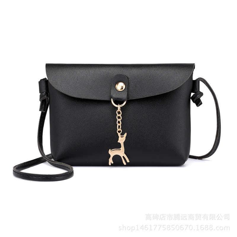 Pequenas Bolsas de Couro PU Mulheres Saco de Ombro Ocasional bolsas de couro das mulheres mulheres saco do mensageiro designe Simples Saco Do Mensageiro menina