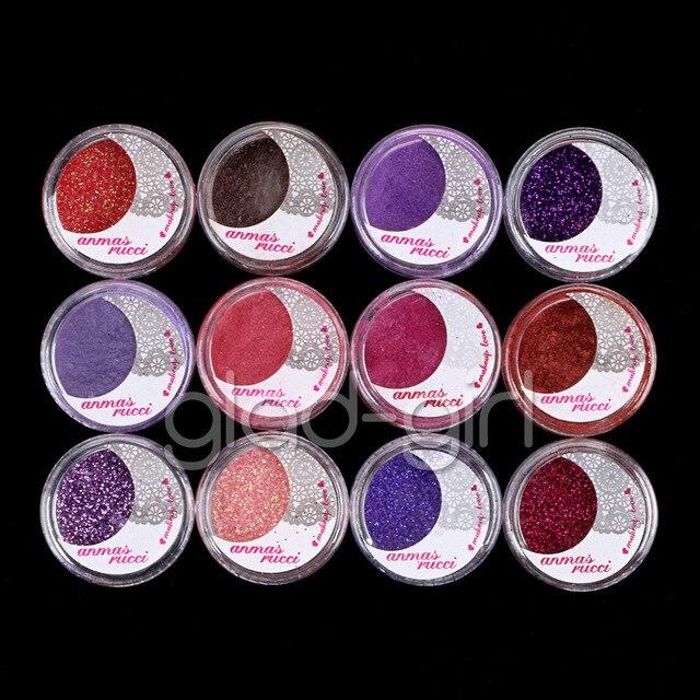 12 Kleur Poeder Glitter Vel Oogschaduw Cosmetische Oogschaduw Make Set #3