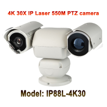 UltraHD 4K (8MP) Outdoor Security Heavy Duty Video Audio PTZ IP Camera 3840×2160 Laser IR 500M Night Vision 30X Auto Zoom