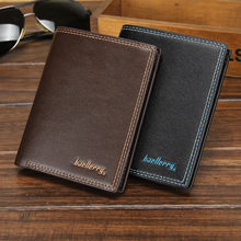 Baellerry Luxury Leather Vintage Men Wallets Coin Money Small Male Credit Card Holder Clutch Bag Wallets For Men Purse W086