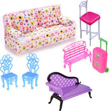 Dollhouse Computer Chair Rocking Couch Bench Chair Lounge For Livingroom Bedroom Garden Child Furniture Toy Accessories(China)