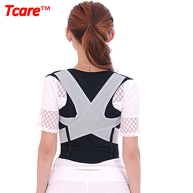 Tcare Unisex Back Shoulder Posture Corrector Health Care Pain Relief Back Brace Support Back Belt M-XL for women man