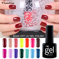 Verntion 8ml 29 Colors UV Soak Off Gel Varnishes nail art Long Lasting UV Gel Nail Polish Lacquer vernis semi permanent
