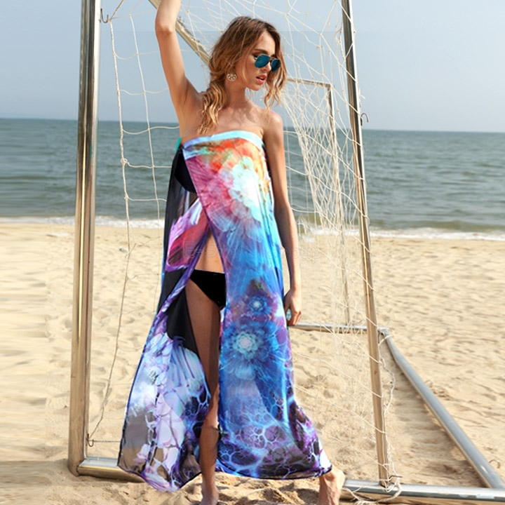 Unique Women Summer Dress Chiffon Wrap Sarong Xmas Beach Swimwear Swimsuit