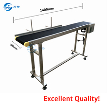 2017 hot sale China belt conveyor for inkjet printer 200mm*1400mm belt conveyor for inkjet printing machine diamond pattern pvc conveyor belt price for sanding machine