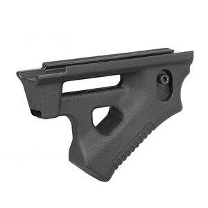 Image 3 - Taktische CS spiel Dreieck kampf Grip Nylon Daumen Airsoft Grip Für 21mm 22mm Breite Schiene schwarz Spielzeug Pistole jagd Zubehör