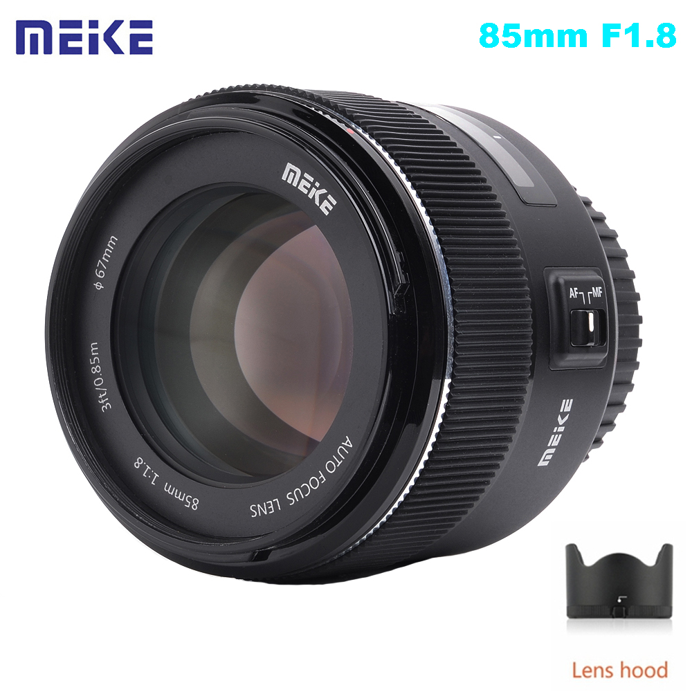 Meike MK 85mm F1.8 F/1.8 AutoFocus Aspherical Medium Telephoto Full Frame DSLR Lens for Canon EOS EF Mount Lens 6D 600D 80D 5D