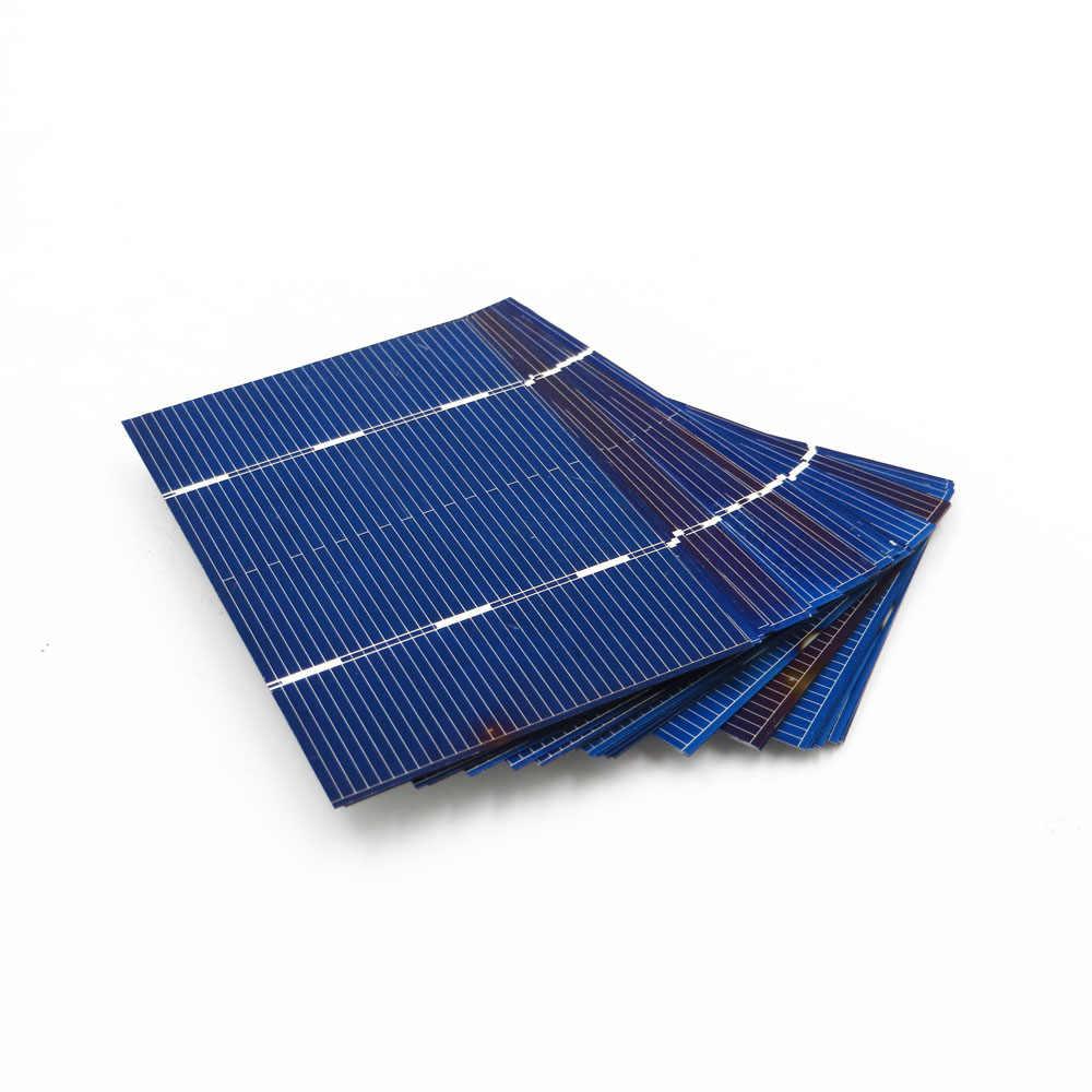 DIY солнечные батареи 0,66 ВТ 78*52 мм 50 шт. Солнечная Панель поликристаллический фотоэлектрический модуль зарядное устройство Painel 78X52
