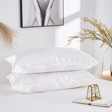 Pillow Covers Silk Satin Pillowcase Comfortable Pure Emulation Pillow Cover Pillowcase For Bed Throw Single D30 christmas decoration pillowcase comfortable pillow cover