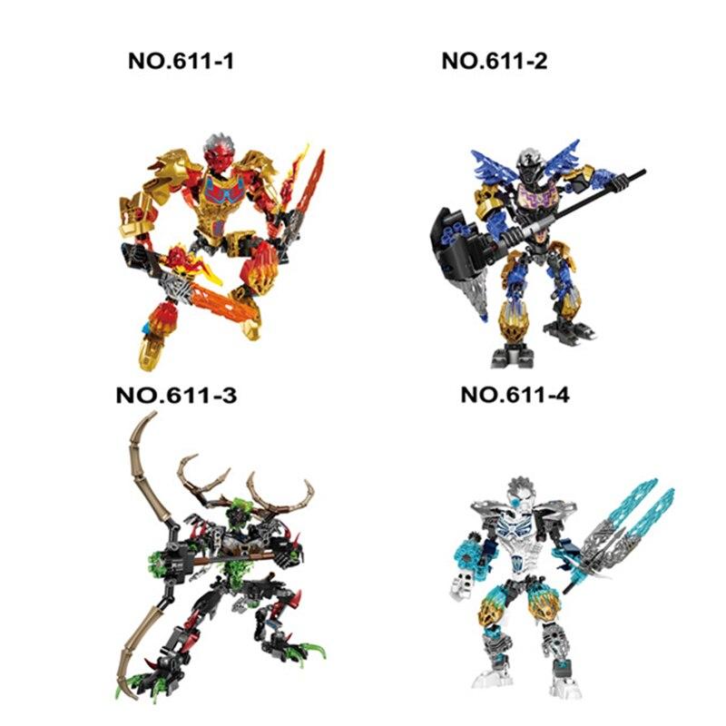 2017 KSZ Compatible Bionicle Biochemical Warrior Bionicle Ekimu The Msdk Maker Building Block Toys