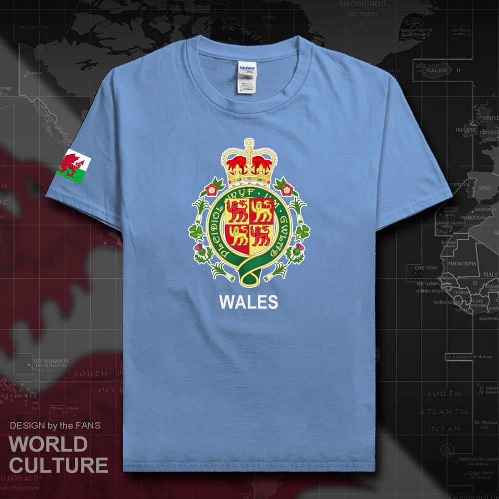 ויילס Cymru וולשית WLS בריטניה גברים חולצה אופנה 2018 ג 'רזי צוות האומה מזדמן כותנה חולצה ספורט כושר קיץ tees חדש 20