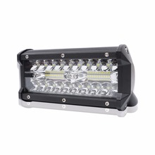 цена на 7 Inch 120W Combo LED Light Bar Spot Flood Beam for Work Driving Offroad Boat Car Tractor Truck 4x4 SUV ATV 12V 24V