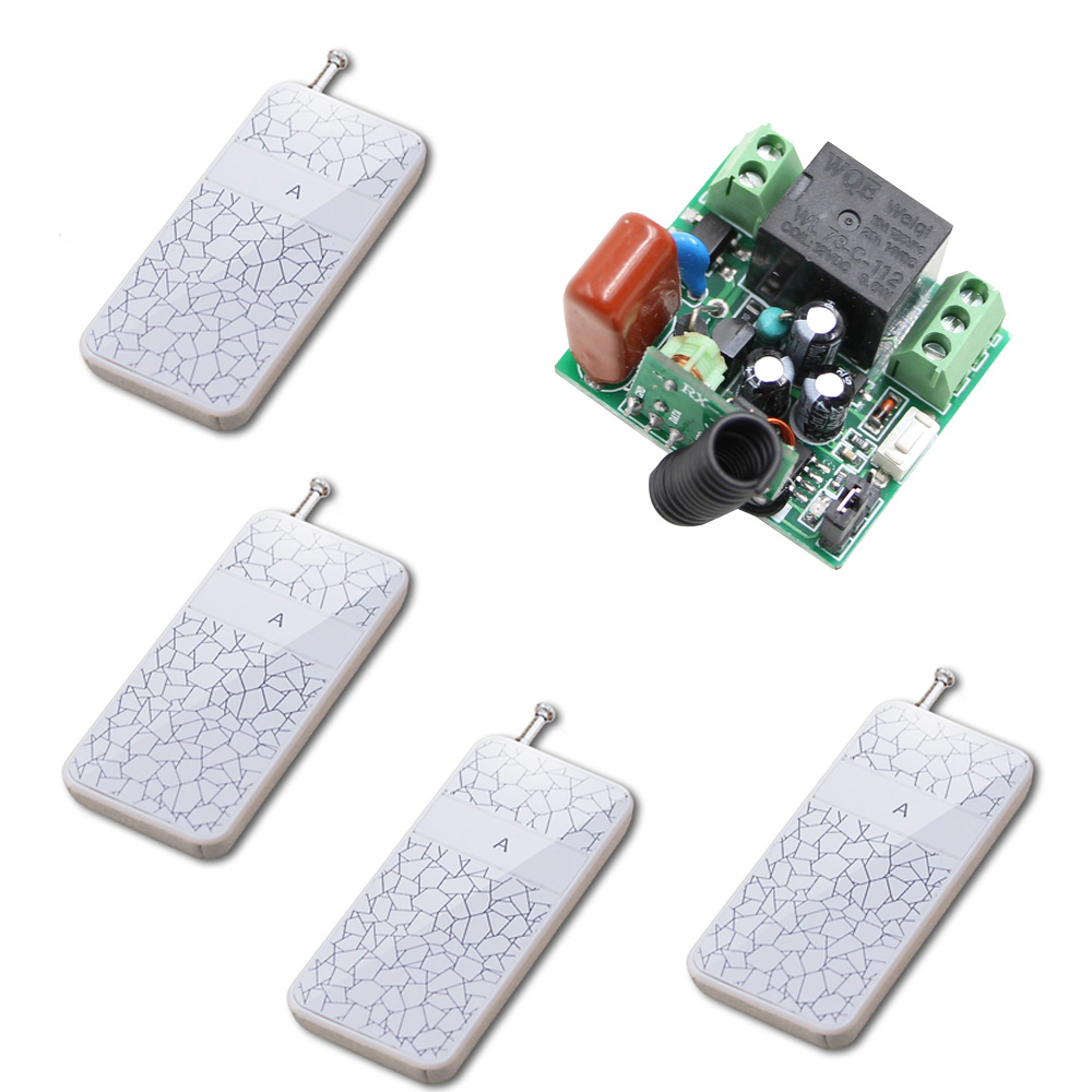 AC 220V Wireless Remote Switch System Button A Transmitter Mini Relay Receiver Remote ON-OFF Learning Code 315/433Mhz 2 receivers 60 buzzers wireless restaurant buzzer caller table call calling button waiter pager system