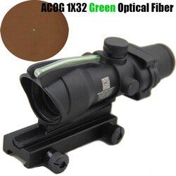 Оптический Прицел ACOG TA31 1x32 с источником волокна, оптический прицел с реальным зеленым волокном, прицел для Вивера
