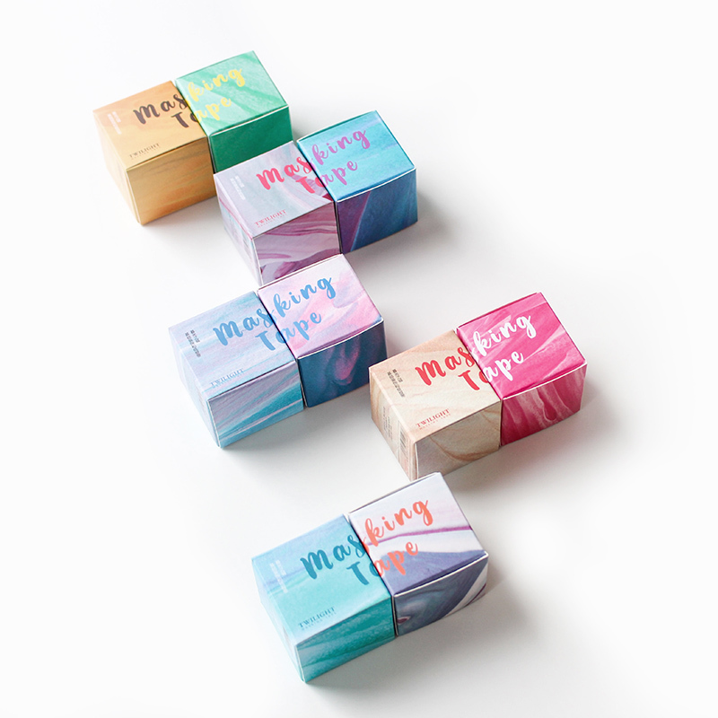 4 Pcs/pack Creative Dot Line Basic Simple Washi Tape Adhesive Tape DIY Scrapbooking Sticker Label Masking Tape