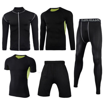 Men Sportswear Compression Sport Suits Quick Dry Running Sets Clothes Sports Joggers Training Gym Fitness Tracksuits Running Set 22