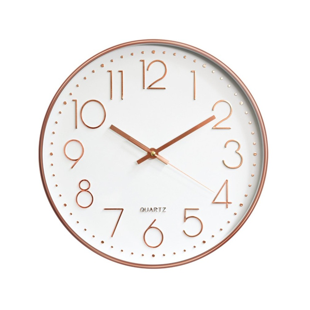 12 Inch Nordic Wall Clock Modern Creative Clock Minimalist Living Room Hanging Clock Bedside Mute Clock Home Decoration