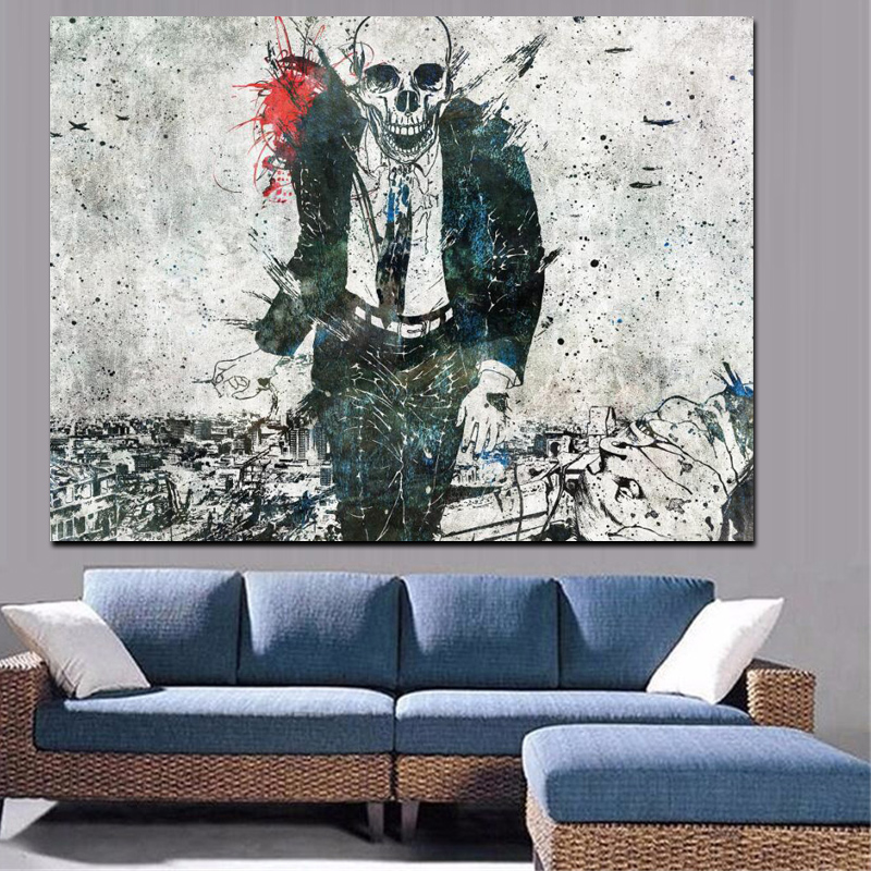 Buy canvas painting dead man walking in - Leave you dead in the living room ...