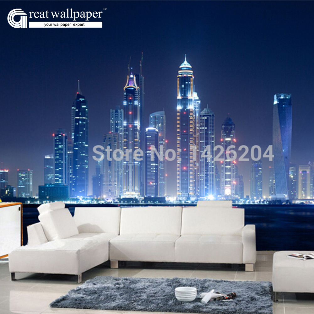 popular large wall mural city wall buy cheap large wall mural city great wall 3d large city night landscape wallpaper wall murals for sofa tv wall paper background