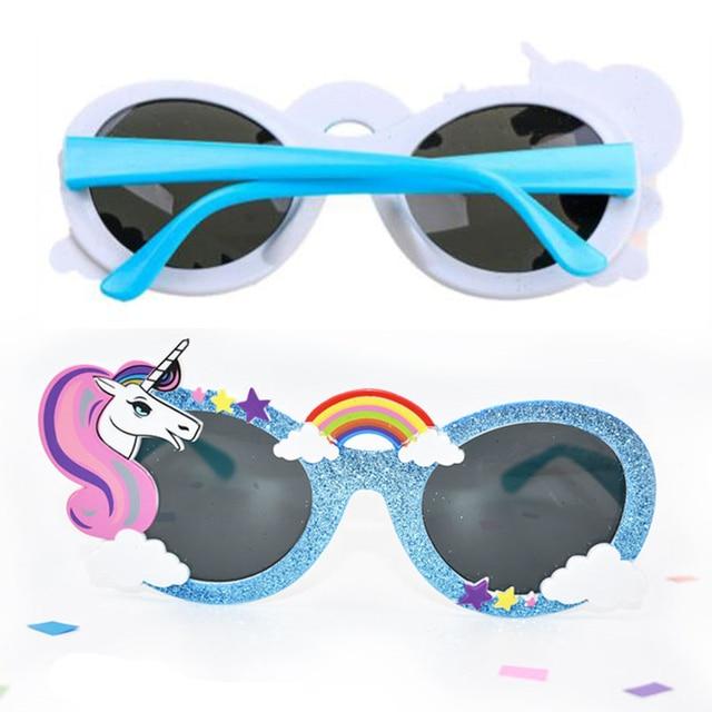 1 pcs Glanzende Blauwe Zonnebril Eenhoorn Funny Party Masker Kostuum Bril Photobooth Props Bruiloft Benodigdheden Decoratie