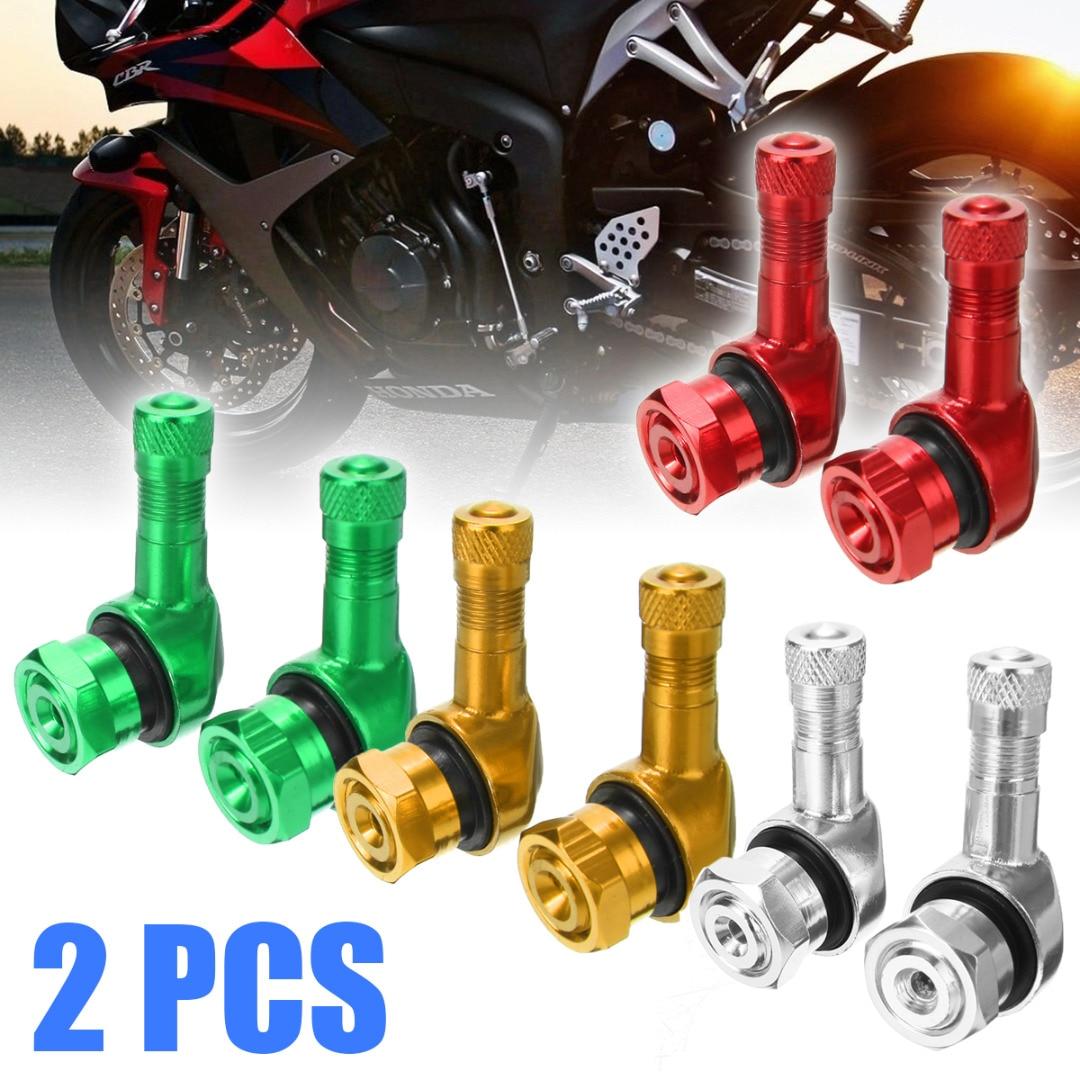 2pcs 90 Degree Angle Aluminum Alloy Valve Stem Motorcycle Wheel Tire Tubeless Valve Stems For 11.3mm Rim Wheel Parts