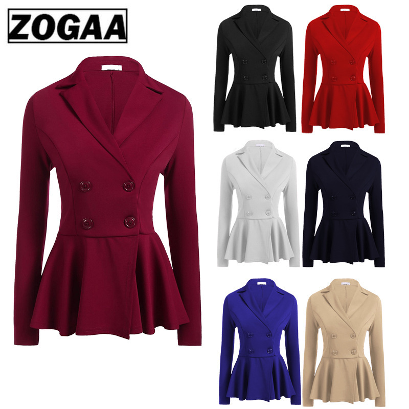 ZOGGA 2019 New Double-Breasted Business Suit With Waistcoat For European And American Women