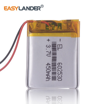 602530 Battery 3.7v 500mAh Lithium Battery For MP4 MP5 GPS DVR Smart Watch car Driving video Recorder image