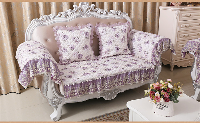 Past Jacquard Fabric Case On The Couch Quilted Sofa Cover Fl Cushion Throws Slipcover Sectional Blanket In From Home