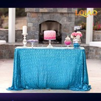 2017 New Sale! 90x156in Sequin Tablecloth Turquoise,Wedding Table Cloth,Sparkle Sequin Linens,Glitter Sequin Cake Tablecloth