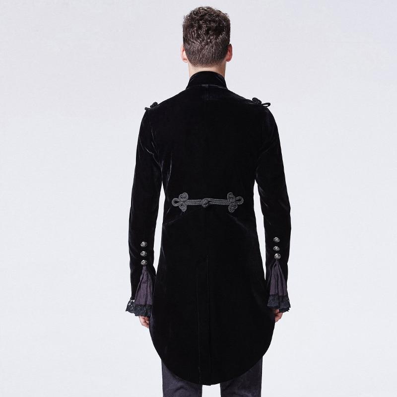 Gothic Black Noblemen Tailcoat met Chinese Knoop Knoop Victoriaanse - Herenkleding - Foto 3
