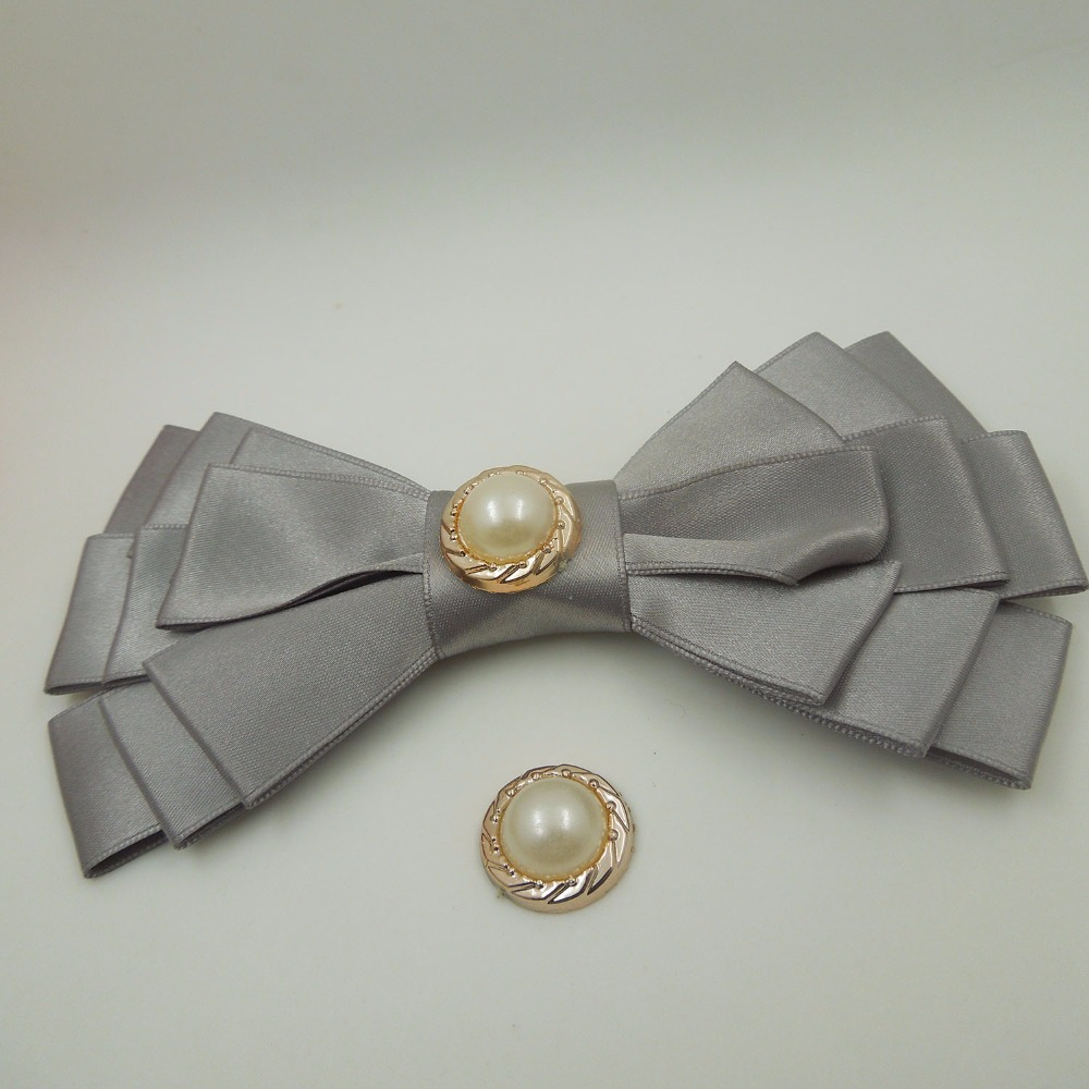 18mm,25pcs pearl glue on uv plated rose gold no fade ribbon buckles acessories Ribbon Slider Headband Hair Clip DIY