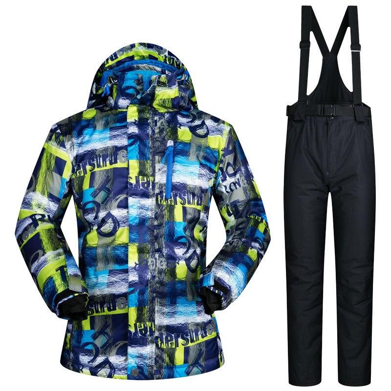 2018 MUTUSNOW hommes Ski costume Snowboard veste pantalon coupe-vent imperméable thermique hiver vêtements pantalon plein air Sport porter homme