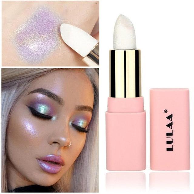 LULAA Colorful Glitter Metallic Lipstick Long Lasting Shiny Highlighter Waterproof Lip Stick Waterproof Makeup Cosmetic Lipstick 1