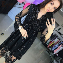 FREE SHIPPING Sequins Dress Vestidos Sexy Club V Neck Long Dress JKP344