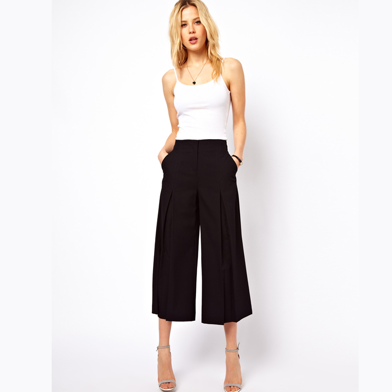 High Quality2014 Women Summer High Waist Flare Pant Career Casual ...