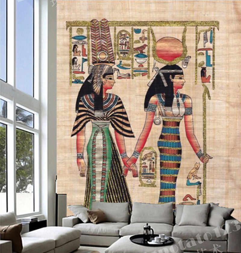 Kustom 3D mural besar, Ancient Indian wallpaper papel de parede, ruang tv dinding kamar wallpaper