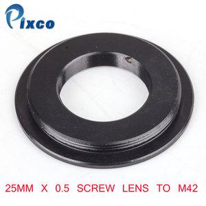 Image 1 - Винтовой объектив Pixco 25 мм x 0,5 для крепления адаптера M42