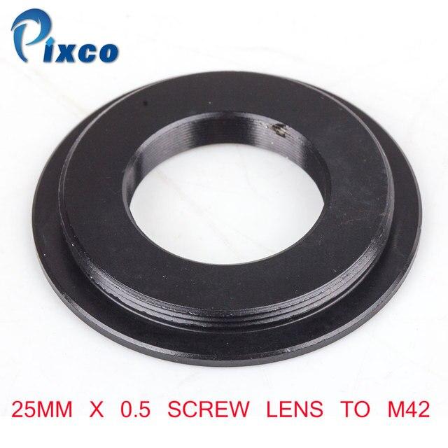 Винтовой объектив Pixco 25 мм x 0,5 для крепления адаптера M42