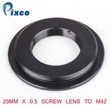 Pixco 25mm x 0.5 lentille à vis à M42 anneau adaptateur de montage