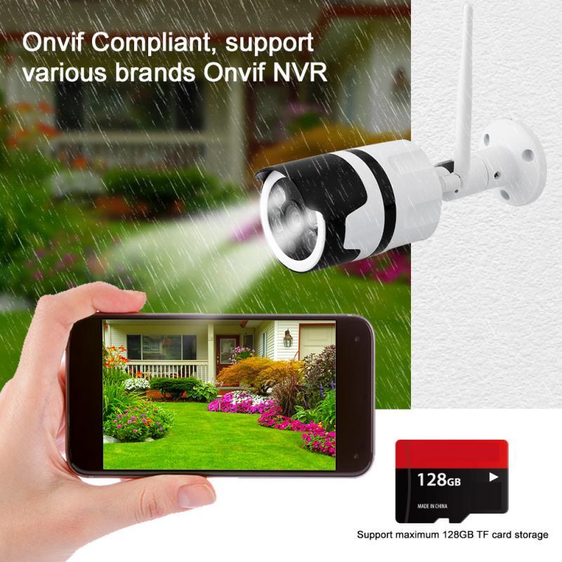 3 6mm Wide WiFi IP Camera 720P Onvif NVR Motion Detection WIFI802 11b Dual Light Source
