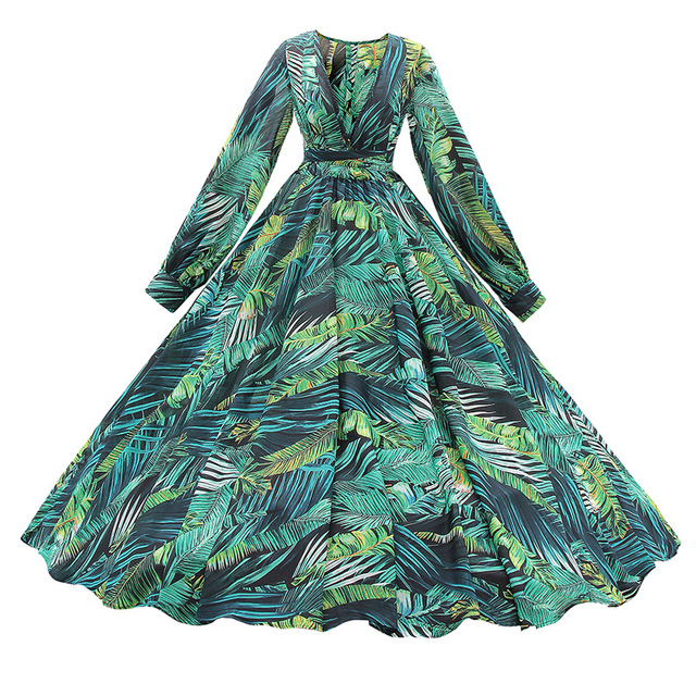 Long Sleeve Floral Print Maxi Dress  4