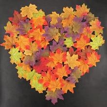 50 шт 8 см живой искусственный шелк кленовые листья для дома Свадебные декоративные аксессуары для вечеринок Скрапбукинг поддельные цветы 52706