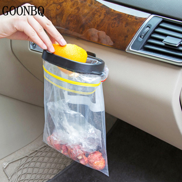 GOONBQ 1 Pc Car Garbage Bag Rack Car Vacuum Base Garbage Bag Holder Trash  Bag Rack