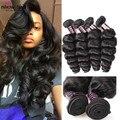 Best Selling 3 Bundles 7A Brazilian Loose Wave Virgin Hair Mink Brazilian Hair Weave Bundles Human Hair Brazilian Loose Wave