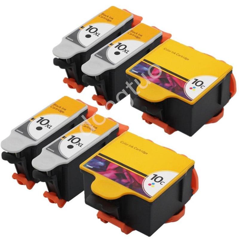 6 Inks Compatible for Kodak 10 ESP 3250 5000 5100 5200 5250 5300 6150 7250 7200 10B 10C